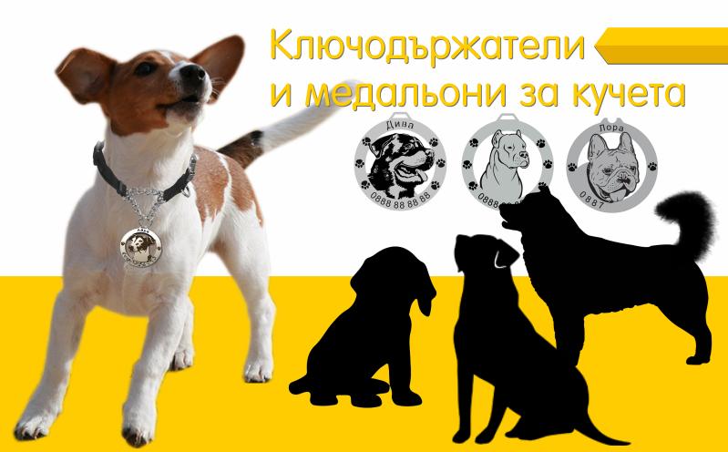 Медальони и ключодържатели за кучета