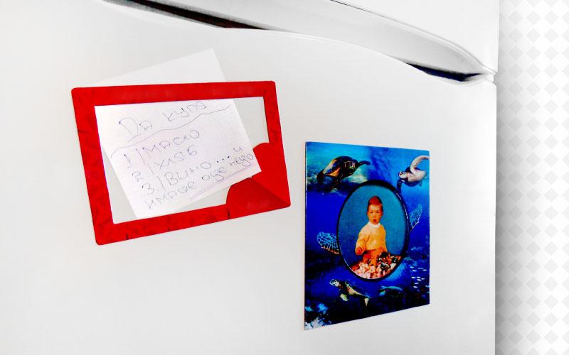 Фото магнитни, рекламни рамки за хладилник