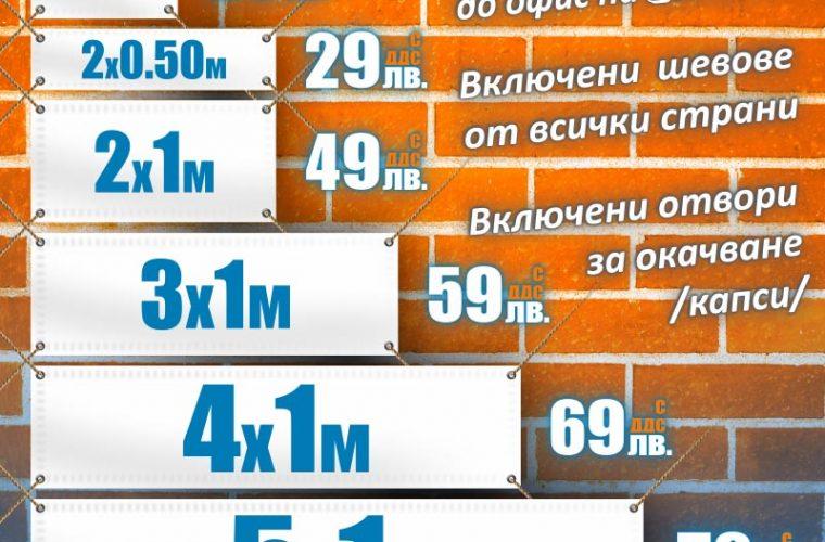Табели, транспаранти, банери от винил,промо1.20 x 0.80 м.: 29 лв. с ДДС