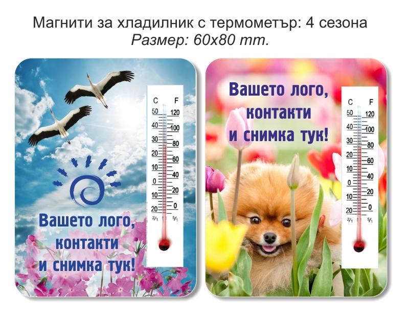 Термометър върху магнити за хладилник